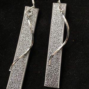 """Jewelry - New silver dangle bar earrings approx 2"""""""